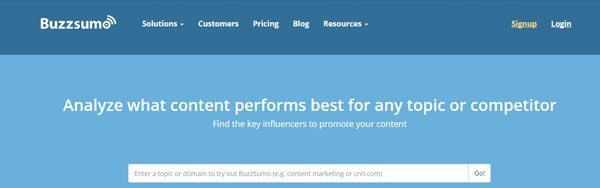 Buzz sumo, one of the best Public Relation Tools